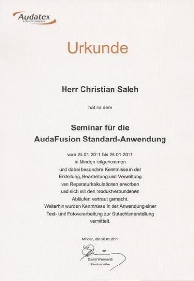 Die Zertifikate von Christian Saleh